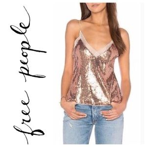 Intimately free people rose gold tank top